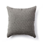 Bernat Diagonal Texture Knit Pillow