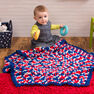 Red Heart Patriotic Hexagon Baby Blanket in color  Thumbnail Main Image 2}