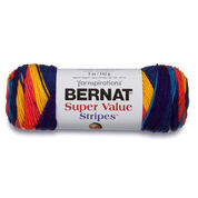 Go to Product: Bernat Super Value Stripes Yarn in color Candy Store Stripes