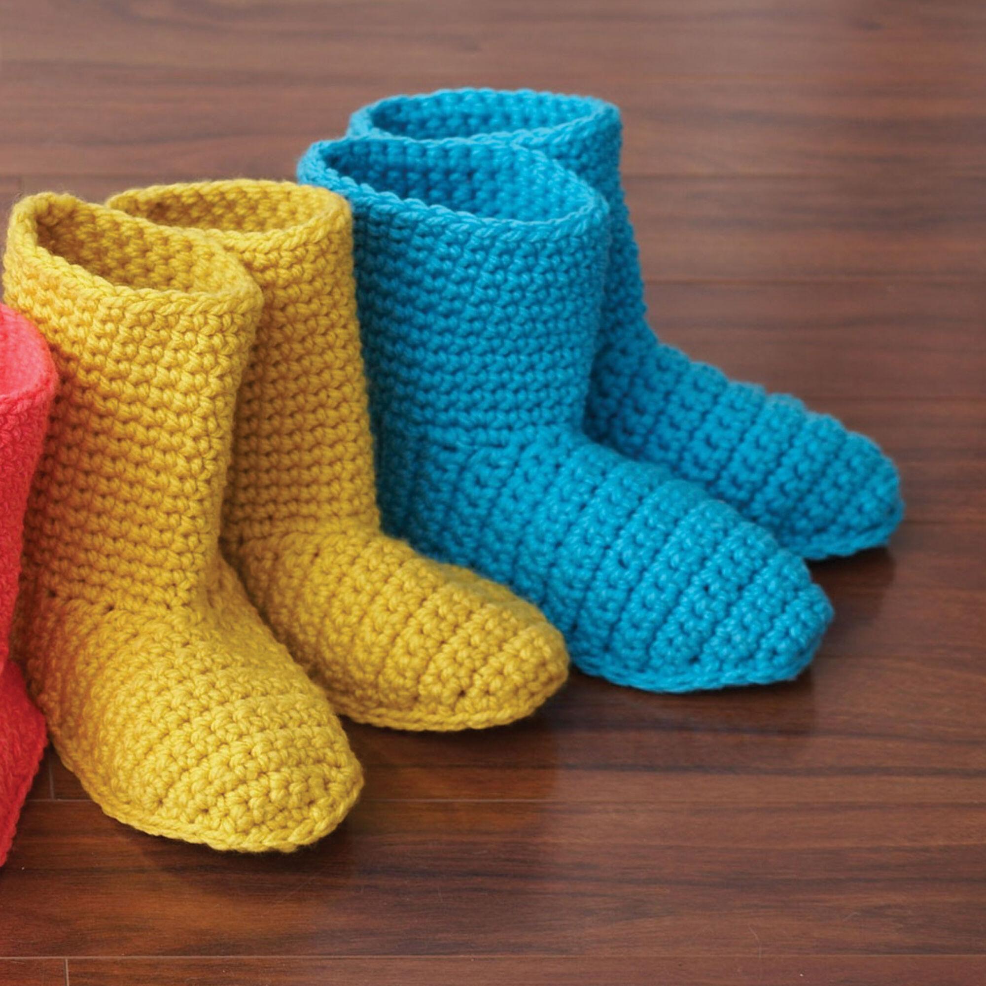 Bernat Slipper Boots Pink Size Xs Yarnspirations