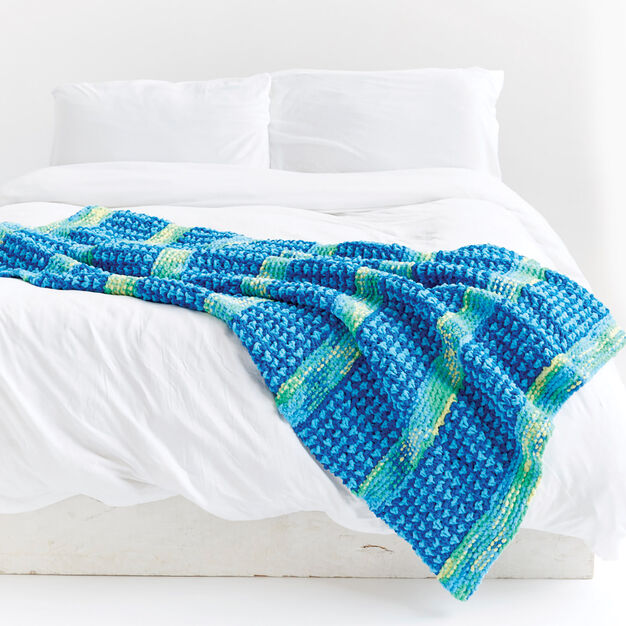 Bernat Dots and Ridges Knit Blanket in color