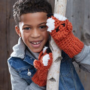 Bernat Fox Mittens, 2/4 years