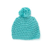 Bernat Quick Pompom Hat
