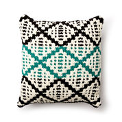 Bernat Knit Diamond Mosaic Cushion Cover
