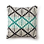 Bernat Knit Diamond Mosaic Cushion Cover