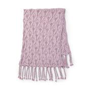 Caron Tasseled Lace Knit Blanket
