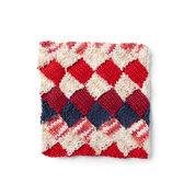 Lily Sugar'n Cream Entrelac Knit Dishcloth