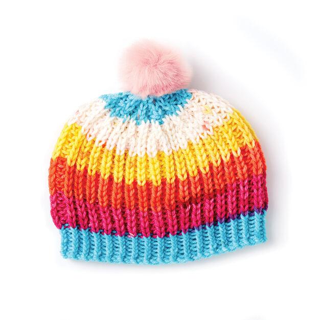 Caron Shaker Rib Knit Hat