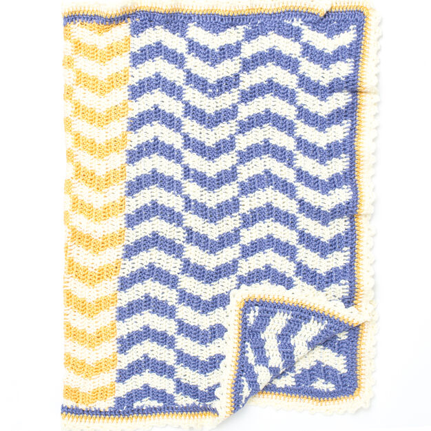 Caron Which Way Is Up Baby Blanket