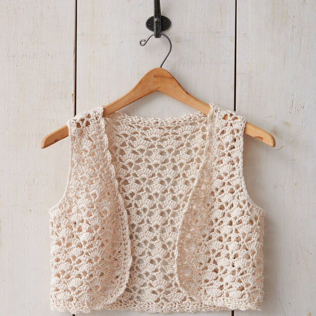 Patons Seashell Crochet Vest Xssm Yarnspirations