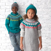 Bernat Rickrack Pullovers, Version 1 - 4 yrs