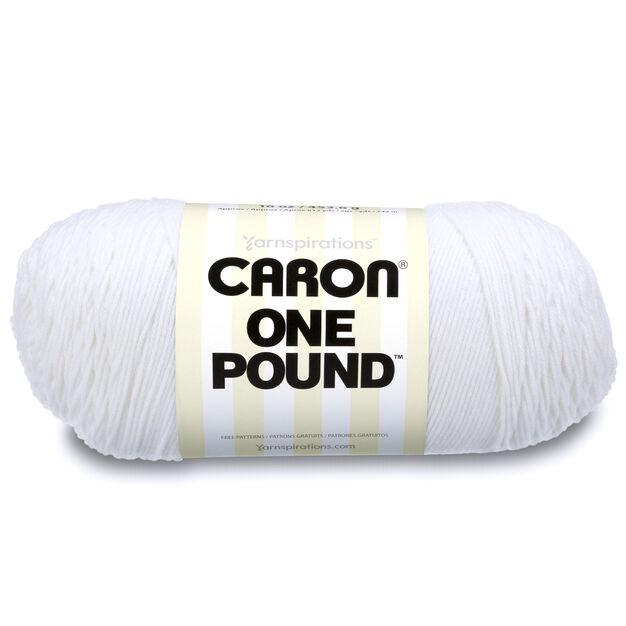 Caron One Pound Yarn, White | Yarnspirations