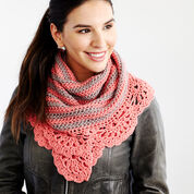 Red Heart Chic and Strong Crescent Shawl