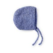 Bernat Knit Garter Stitch Bonnet, 6-12 mos.