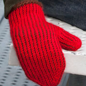 "Red Heart Tunisian ""In the Round"" Mittens, S"