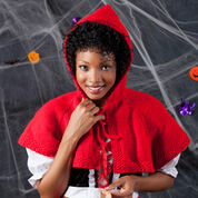 Red Heart Red Riding Hood Cape, S