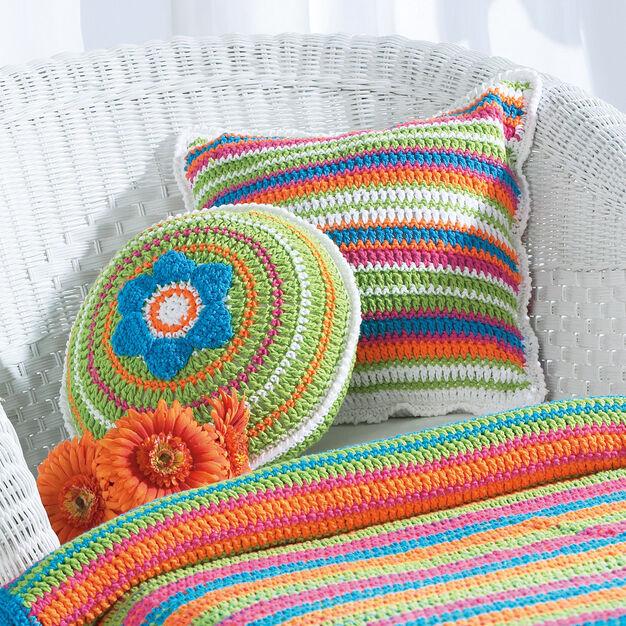 Bernat Patio Pillows, Round