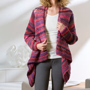 Red Heart Drape Front Cardigan, S