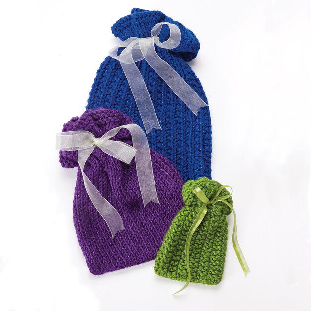 Caron Knit Gift Bags in color