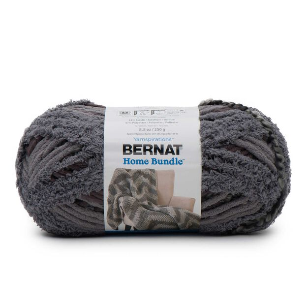 Bernat Home Bundle Yarn, Dark Gray - Clearance Shades* in color Dark Gray