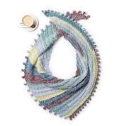 Caron Crochet Bobble Fringe Shawl