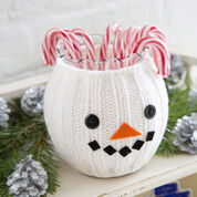 Red Heart Snowman Jar Cozy