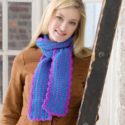 Red Heart Scalloped Edge Scarf