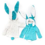 Bernat Hippity-Hop Bunny Hoodie, Version 1 - 6 mos