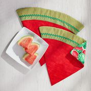 Dual Duty Watermelon Wedge Placemats- great for Summer