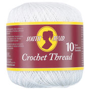 South Maid Crochet Thread Size 10, White