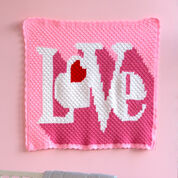 Red Heart Heart Throb Blanket