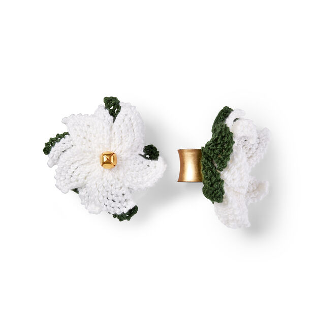 Caron Poinsettia Napkin Rings in color