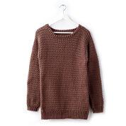 Caron Big Easy Crochet Pullover, XS/S