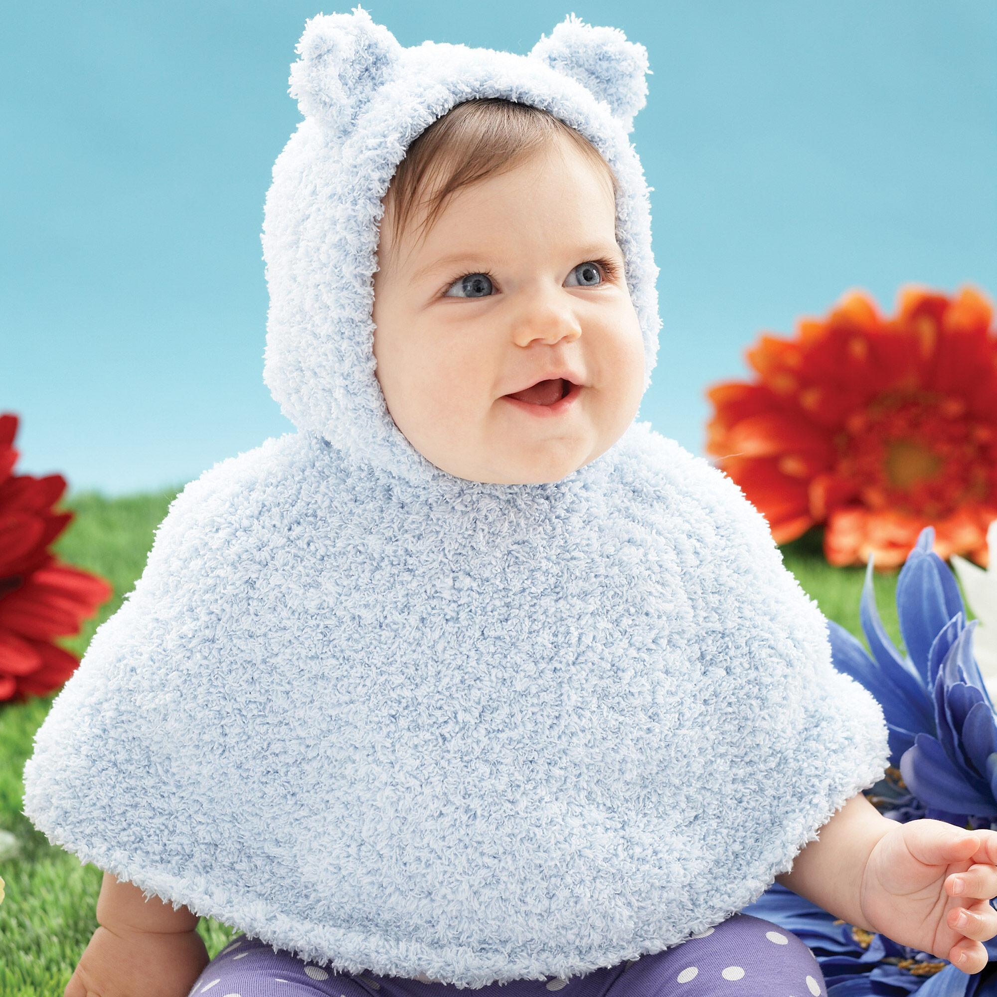 Bernat Huggy Bear Knit Cape Yarnspirations