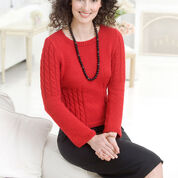 Red Heart Chic Cable Sweater, S