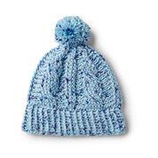 Caron Cabled Crochet Hat