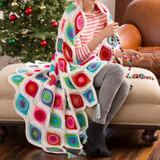Red Heart Retro Ornament Throw
