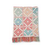 Caron Diamond Blocks Crochet Blanket