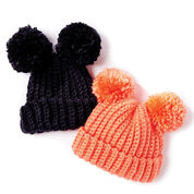 Bernat Adorable Pompom Crochet Hat, Version 1 - 6-12 mos