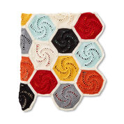 Caron Crochet Hexagons Blanket