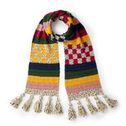 Go to Product: Caron Stripes and Checks Crochet Scarf in color