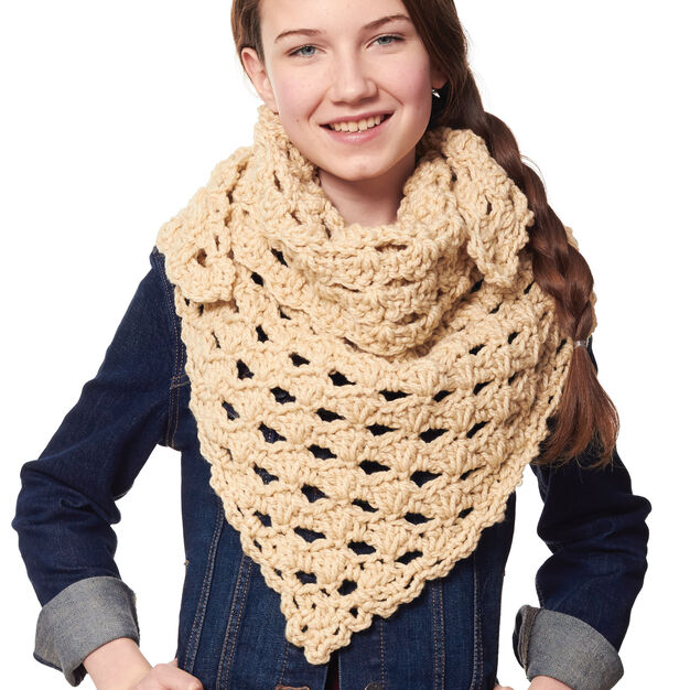 Bernat Kerchief Scarf in color