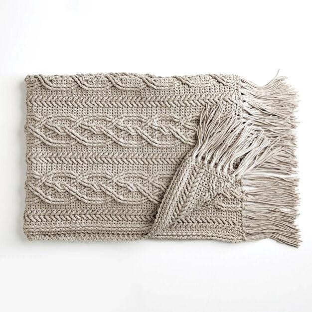 Bernat Crochet Cablework Blanket Yarnspirations