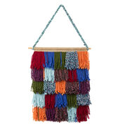 Red Heart Shaggy Chic Wall Hanging
