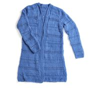 Red Heart Lovely Day Knit Cardigan, S