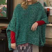 Red Heart Boat Neck Poncho, S