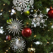 Red Heart Snowflake Ornaments