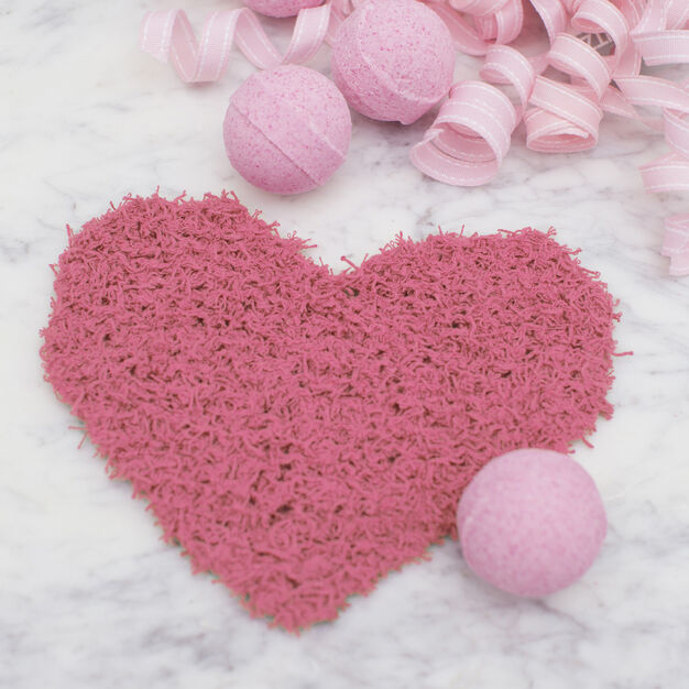 Red Heart Loving Heart Scrubby