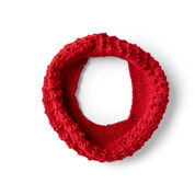 Red Heart Be True Knit Cowl