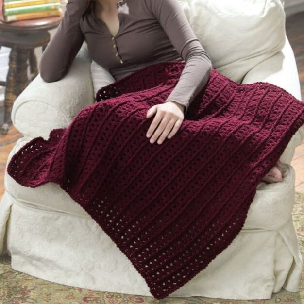 Red Heart Crochet One-Skein Lap Throw in color